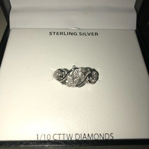 Sterling Silver Dimond Ring